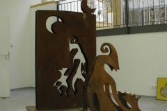 Skulptur Vater-Kind 2